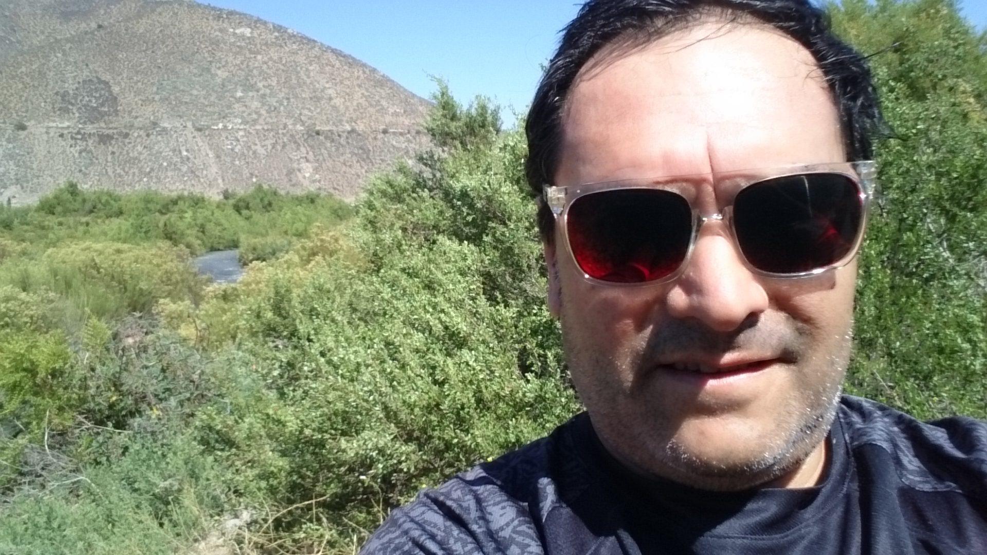 Yo en el rio choapa